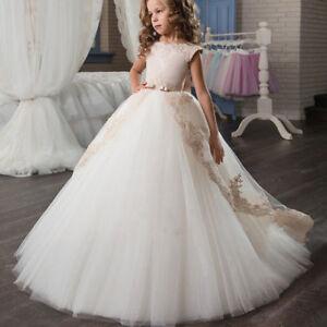 2018 Flower Girl Dress Princess Kid Party Wedding Bridesmaid Pageant Tutu Dress