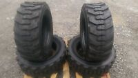 4 10-16.5 Skid Steer Tires With Rimguard -10x16.5 10 Ply-for Bobcat & Others