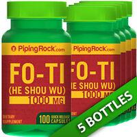 Piping Fo-ti Extract He-shou-wu Root 5x100 Capsules 1000mg Anti-aging/cardio