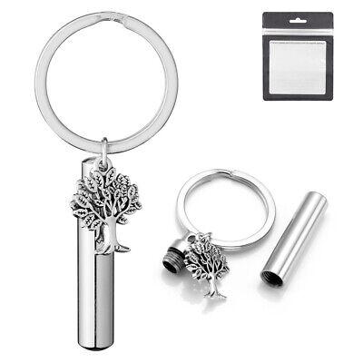 Memorial Gallery black Aluminum Urn Cremation Keychain