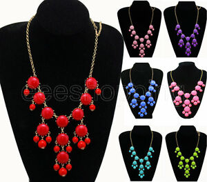 Fashion-New-Women-Bubble-Bib-Statement-Chain-Necklace-Hot
