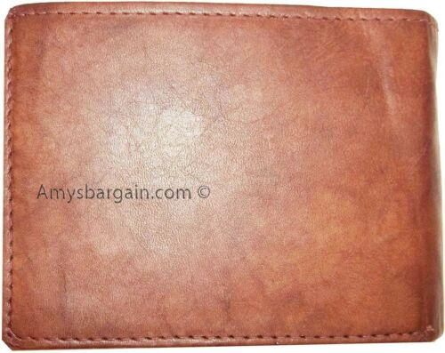 New Italian styled leather man/'s wallet by MILANO 9 Credit cards 2 IDs 2 Bifold