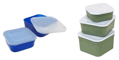 Lemco Square Top Bait Box 0.5 Pint Blue