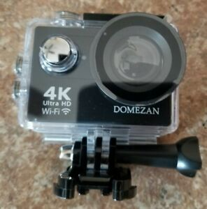 4K Action Camera Wifi, DOMEZAN Waterproof Sports Camera 12MP (Open Box)