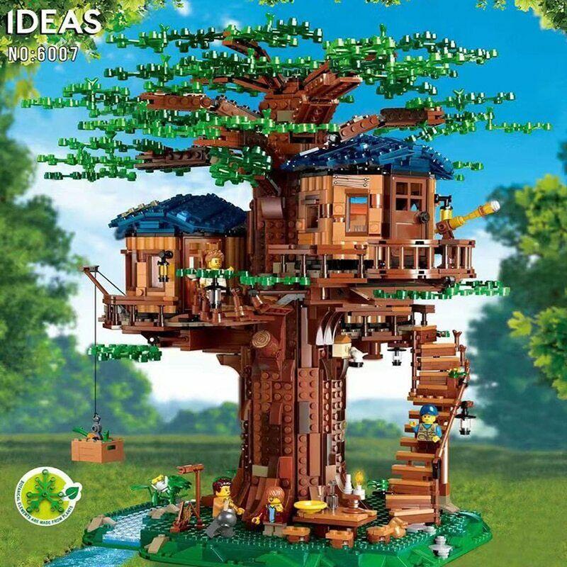 速い船アイデア木ハウスモデルは、2つの色を構築します