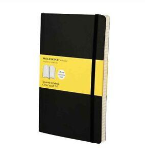 Moleskine-13X21-cm-Softcover-Notizbuch-192-Seiten-schwarz-kariert