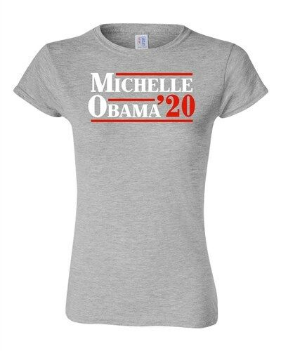 Junior Michelle Obama /'20 First Lady President Political DT T-Shirt Tee