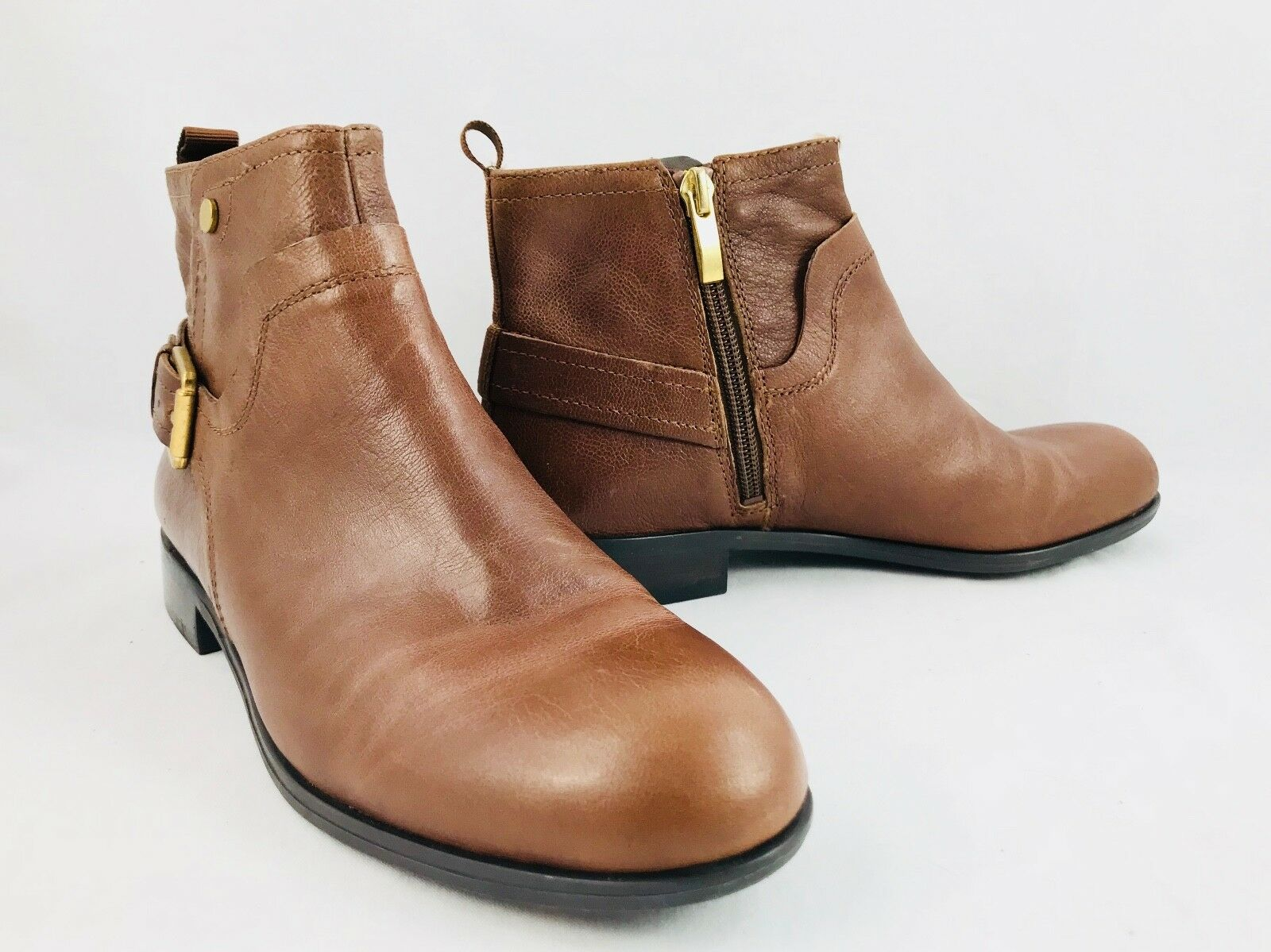 Franco Sarto Marta Womens Ankle Boots Rustic Brown Size 5.5