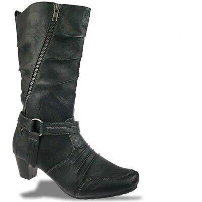 ZARINA Fashion by IDANA wadenhoher City Stiefel schwarz Gr.37-42