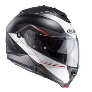 NEU-HJC-Helm-IS-MAX-II-2-Magma-schwarz-weiss-M-57-58-Klapphelm-statt-239-90