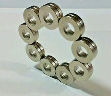 20 Neodymium Ring Magnets. Super Strong N48 Rare Earth. Diametric Poles