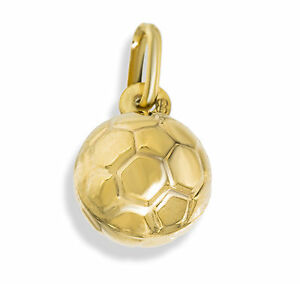 9ct gold football soccer ball pendant charm for bracelet or chain image is loading 9ct gold football soccer ball pendant charm for aloadofball Image collections