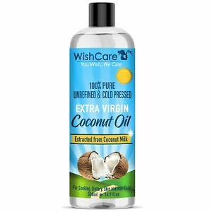 WishCare Pressée à Froid Extra Vierge Huile Noix de Coco Pour Peau & Cheveux