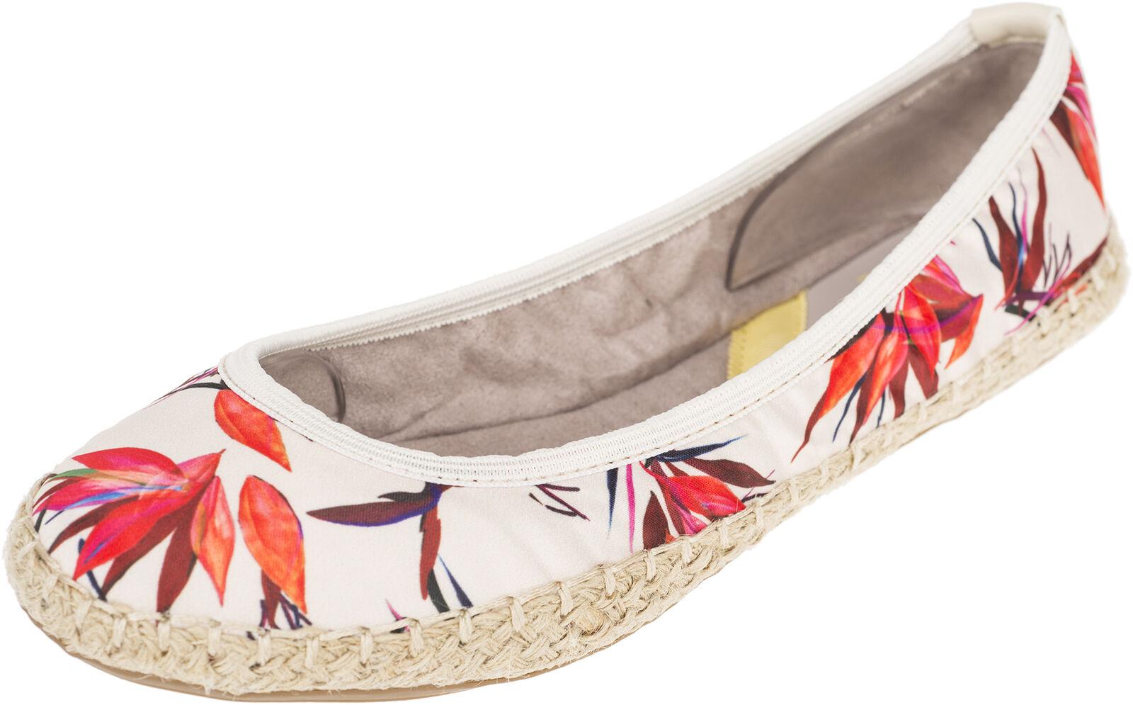 Butterfly Twists GIGI Birds Of Paradise Flats BALLERINAS - Creme Rockabilly
