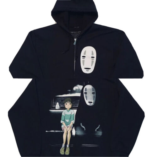 Spirited Away No Face Zip up Hoodie Double Sided M