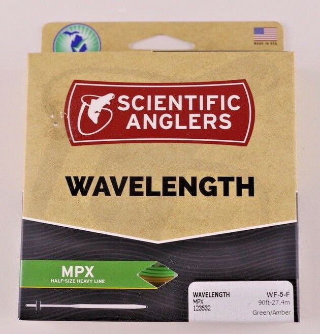 Scientific Anglers Wavelength MPX Fly Line WF5F Amber Grün ON SALE 123532