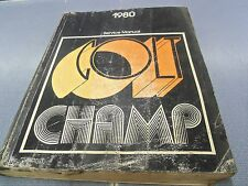 1980 Dodge Colt Plymouth Champ Service Shop Repair Manual OEM FREE SHIPPING!!