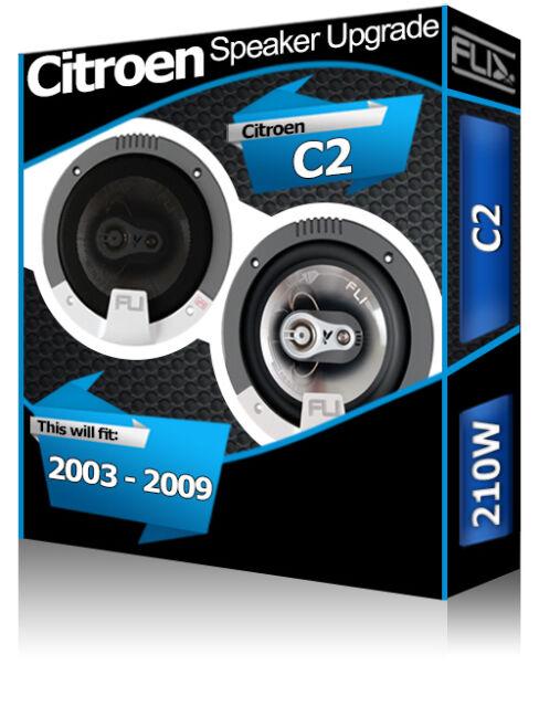 "Citroen C2 Rear Door speakers Fli 5.25"" 13cm car speaker kit 180W"
