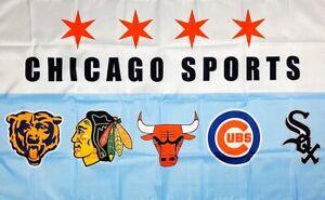 Chicago-Bears-White-Sox-Cubs-Blackhawks-Bulls-Flag-3x5-ft-Sports-Banner-Man-Cave