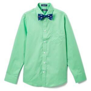 6f891489e Boys IZOD green dress shirt bow tie set 20 NWT Easter nautical solid ...