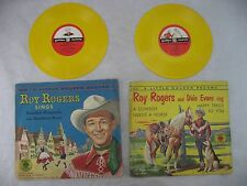VINTAGE ROY ROGERS A COWBOY NEEDS A HORSE LITTLE GOLDEN RECORD EVANS SING, LOT