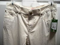 Lilly Pulitzer Cameo White 5 Pocket Corduroy Jeans Pants Size 4 100% Cotton