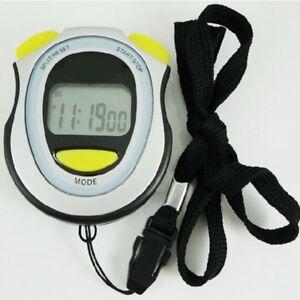 LCD-Chronograph-Digital-Timer-Stoppuhr-Sport-Zaehler-Pedometer-Alarm-Stopwatch-Z