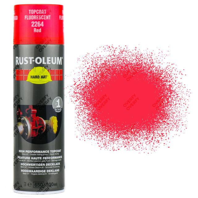 X 12 Muy Alta Cobertura Óxido-óleo Rojo Fluorescente Pintura en Aerosol Casco