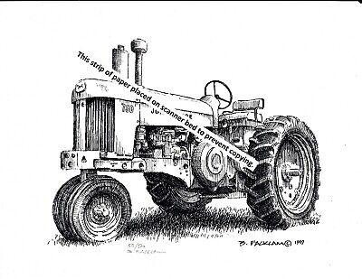 John Deere Model 620 Farm Tractor ~ Pen /& Ink Print