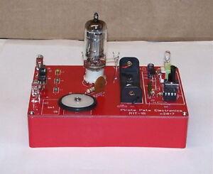 RTG BUILT pcb 1-BATT school science fair vintage VACUUM TUBE AM radio electronic