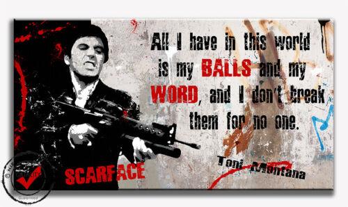 Al Pacino Scarface Bild Leinwand Bilder Poster Pop Art Dig.Gemälde Wandbild Film