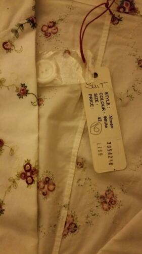 16 bianco in gonna 42 Wedding rosa cotone Abito Barn Size The Bnwt floreale vUgCwxnq