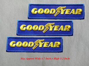 3-pcs-GOODYEAR-MOTOR-Racing-Car-Patch-Embroidered-Iron-or-Sew-on-Coat-Jacket-bag