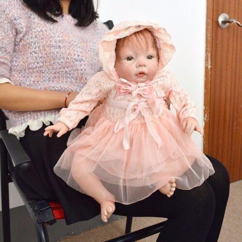 "20/"" Soft Silicone Vinyl Toddler Reborn Baby Girl Doll Lifelike Newborn Toys Gift"