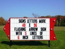 NEW FLASHING PORTABLE LIGHTED BUSINESS SIGN W/ LETTERS
