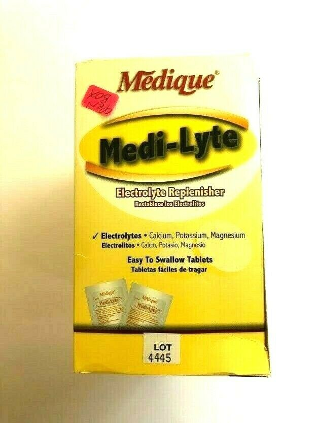 2 Packs Free shipping Medique Medi-Lyte Electrolyte Replacement Tablets