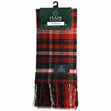 Scottish 100 % Authentic Wool MacDougall Modern Tartan Clan Scarf New !!