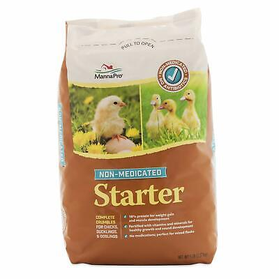 NatureServe  Non-Medicated  Grower//Starter Feed  Crumble  For Poultry 10 lb.