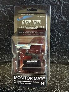 Star Trek Monitor Mate USS Enterprise NCC1701D Next Generation Mini Ship NIP