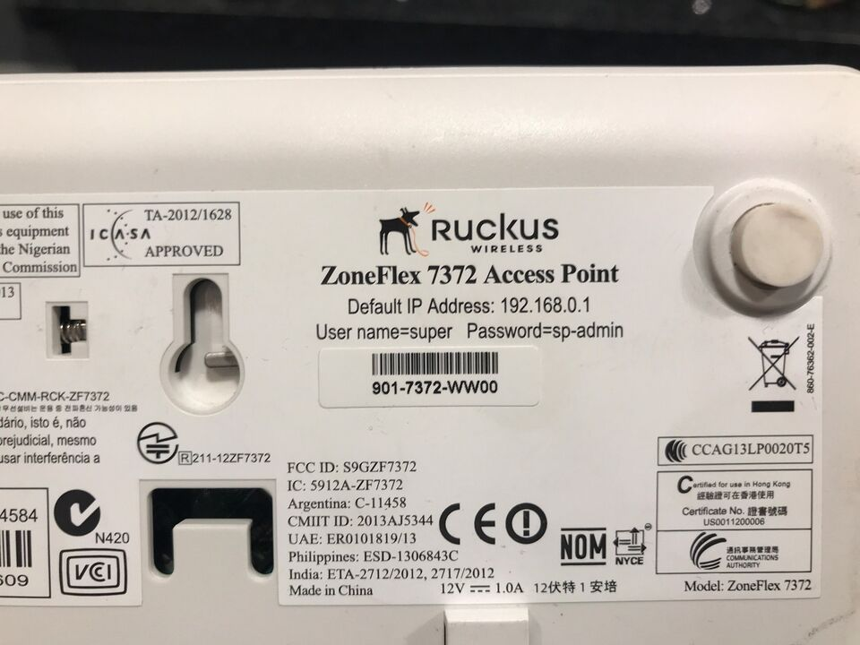 Access point, Ruckus ZoneFlex 7372, Perfekt