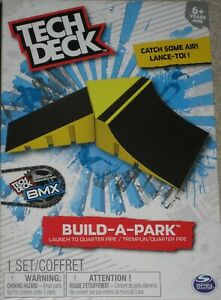 Tech Deck Fingerboard Park Ramps Launch to Quarter Pipe