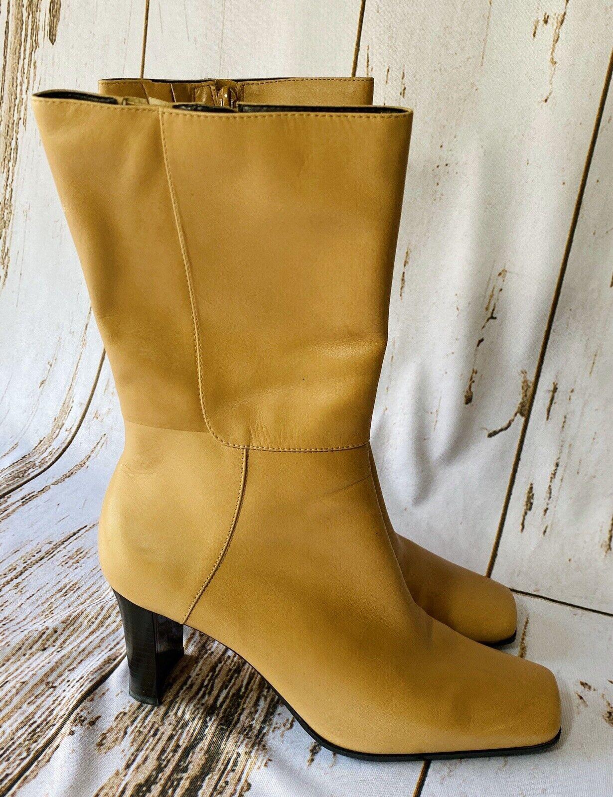 "Bandolino ""AIRLIAS"" Tan Brown Leather Square Toe … - image 1"