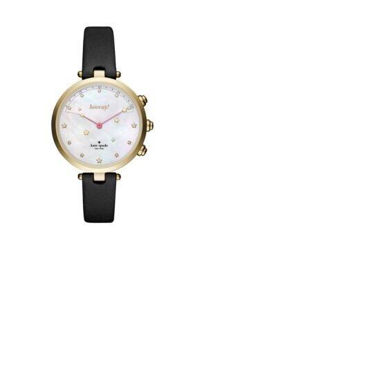 11e6c5e055b NWT Kate Spade New York Women Holland Black Leather Hybrid Smart Watch  KST23204