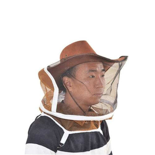MagiDeal Beekeeping Cow Boy Hat Anti Mosquito Bee Veil Head Breathable Guard