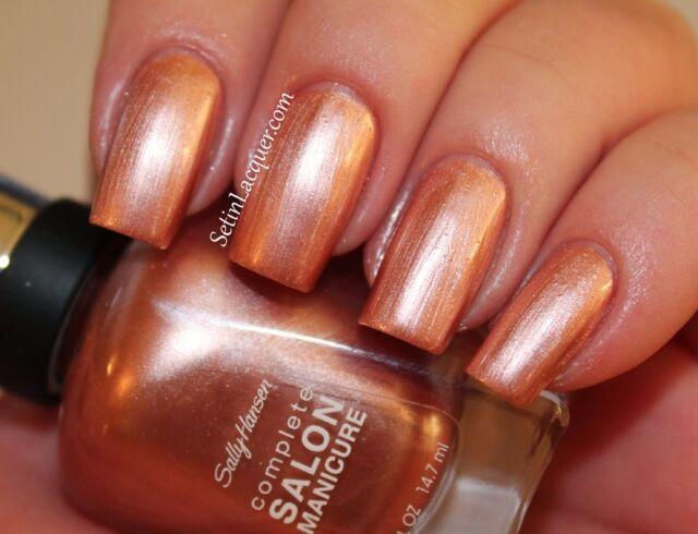 Sally Hansen Complete Salon Manicure Nail Polish Gold Roses 817
