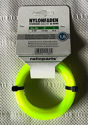 für Black+Decker STC1820PC Rasentrimmer 2x Faden Mähfaden 15m 1,6mm p