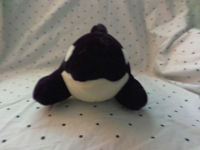 Seaworld Orka Whale Plush Soft Toy Stuffed Animal 17""
