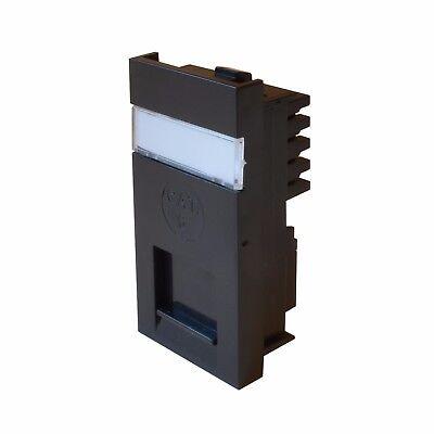 CAT5 CAT6 Module RJ45 Outlet with Shutter 25x50mm Black Punchdown IDC