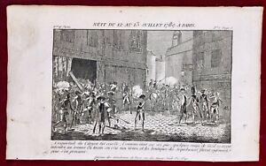 Révolution Française Juillet 1789 Attaque de l'arquebuserie de Paris