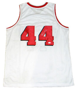 competitive price e6230 afc4f Details about FRANK KAMINSKY SIGNED AUTOGRAPHED WISCONSIN BADGERS #44  BASKETBALL JERSEY JSA